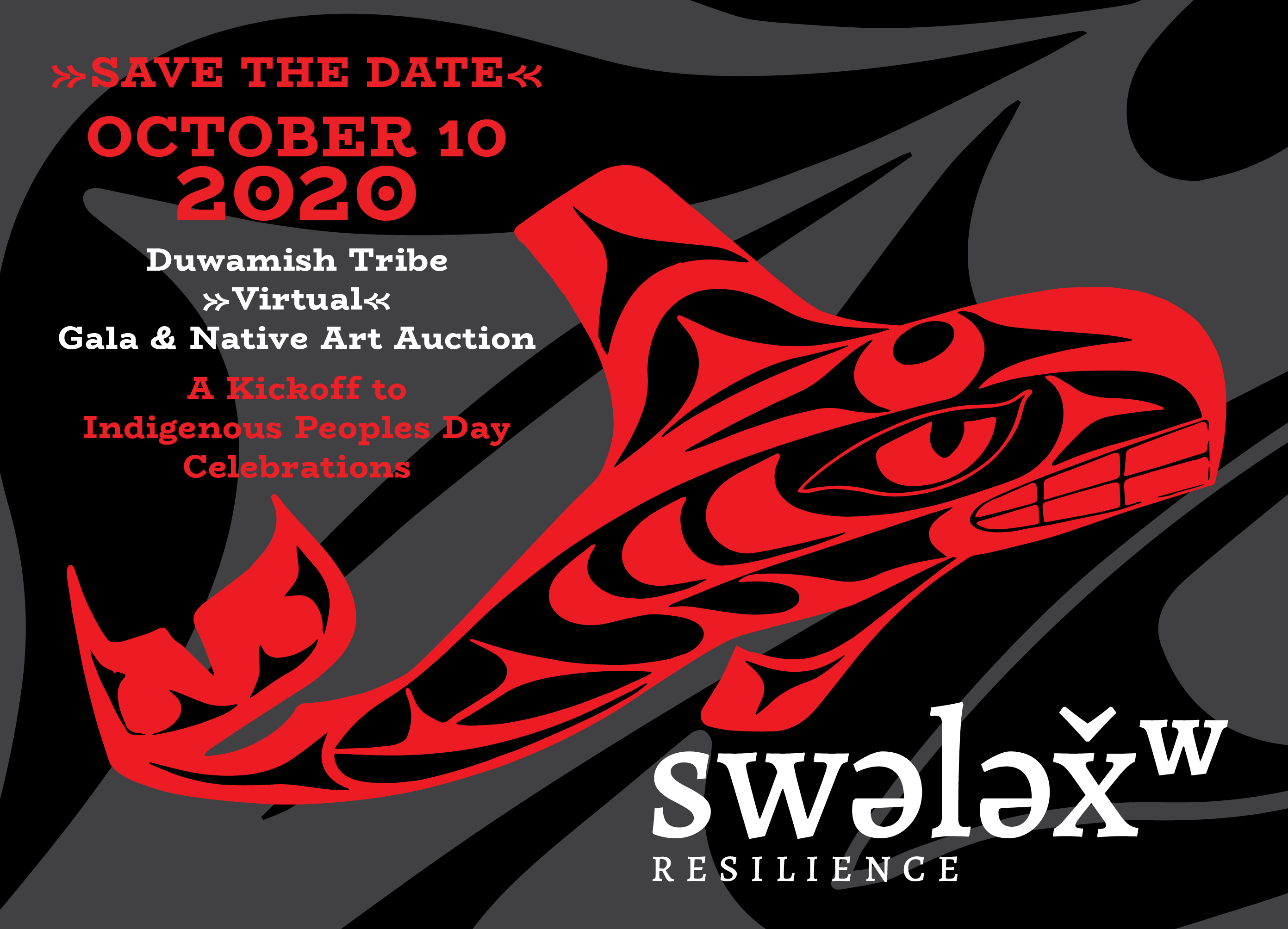 Save the Date invitation for the 2020 Duwamish Gala