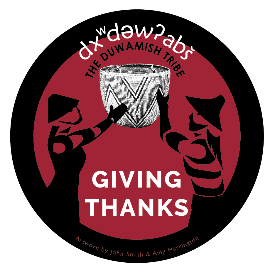 Sticker design for Giving Thanks community meal